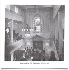 Consecration Service of the New Synagogue at Heywood Street