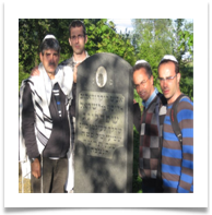 Family Group by Yossi's grandfather's grave