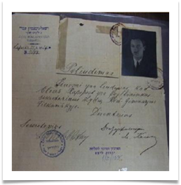 High School Diploma in Lithuanian for Eliahu Rapport