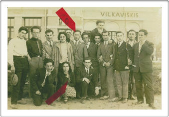 In front of Vilkaviskis Train Station 19th Sep 1929