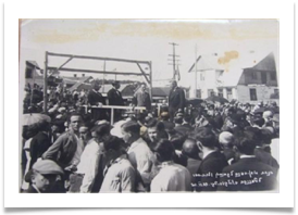 Laying the corner stone of the new Hebrew Gymnasium 20th June 1926