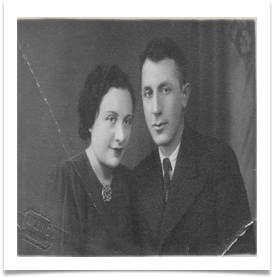Moshe Solomin and his wife Itta, nee Hoffman