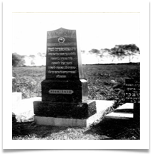 The original grave in 1935