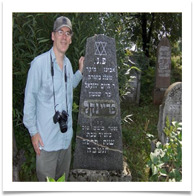 Wayne with his ancestors grave